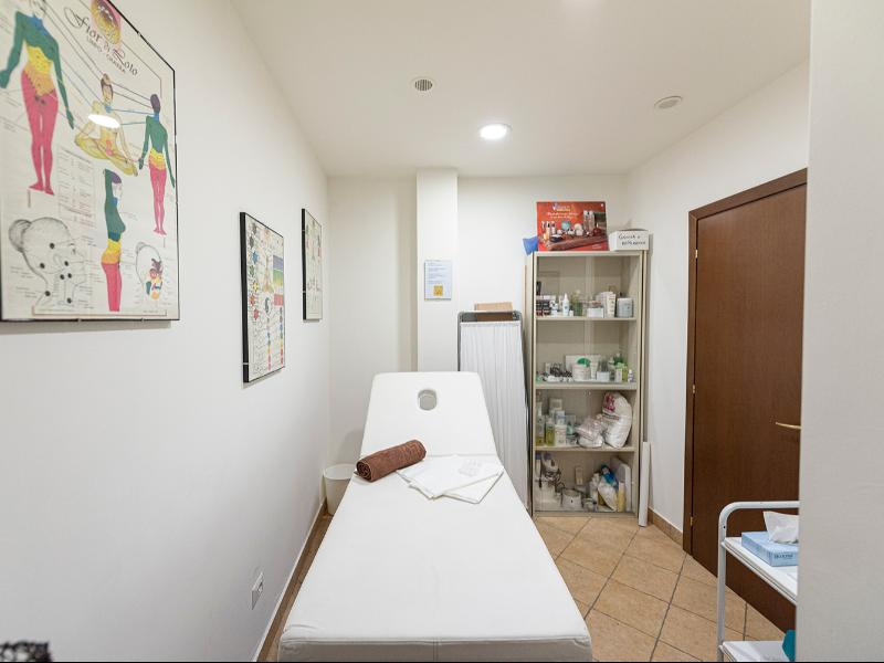 La sala massaggi